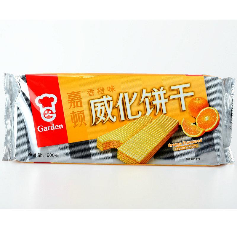 嘉顿 香橙味威化饼干200g(015208)