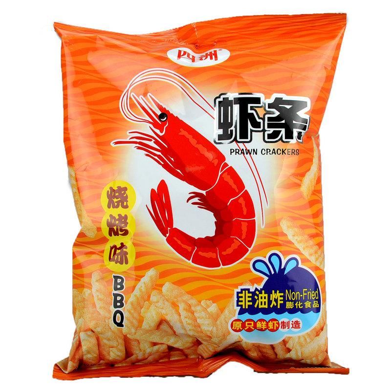 四洲虾条烧烤味80g包装(202225)